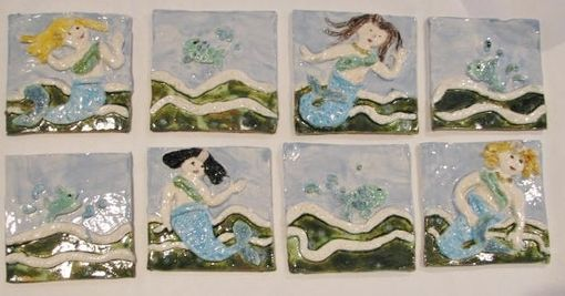 Custom Made Mermaid Tiles
