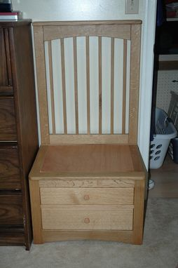 Custom Made Quartersawn Oak Men's Bedroom Chair