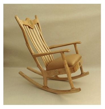 Custom Made Upholstered Seat Rocking Chair