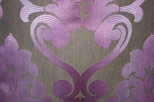 Custom Made 22x22 Purple Damask Pillow Cover