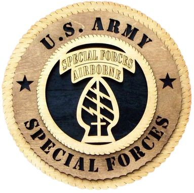 Custom Made U.S. Army Special Forces Wall Tribute, U.S. Army Special Forces Hand Made Gift