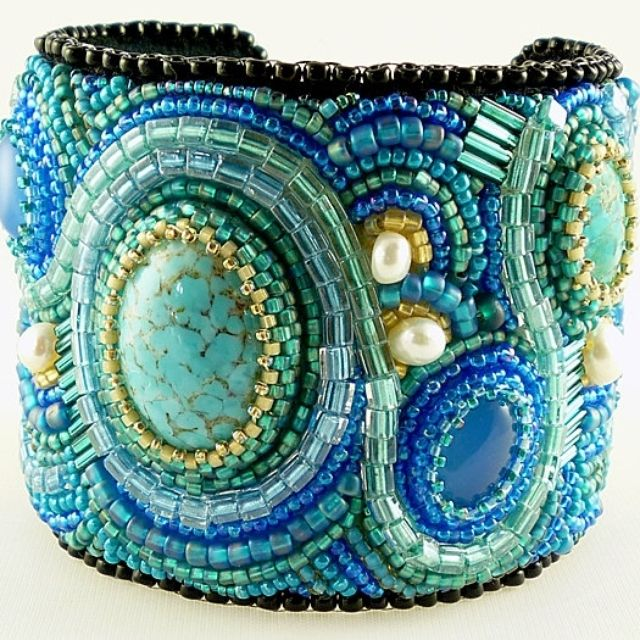 Hand Made Bead Embroidered Cuff Bracelet Made To Order Detailed Artistic  Jewelry And Beadwork by Sirious Design   CustomMade.com