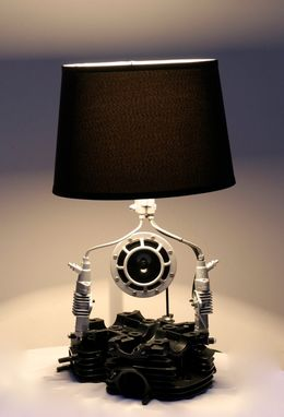 Custom Made Cylinder Head Table Lamp