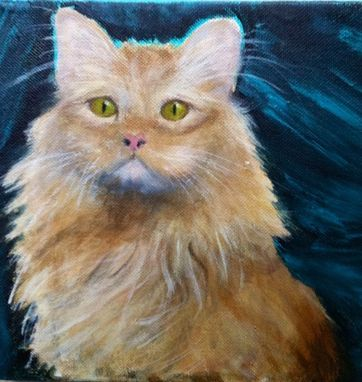 Custom Made Sammy, Red Tabby Cat Painting, Totally Custom Portrait