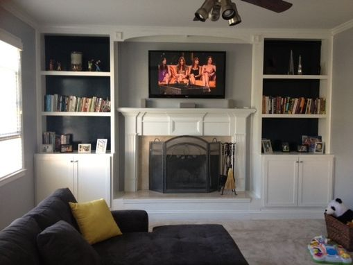 Custom Made Peten Built-In Bookcases