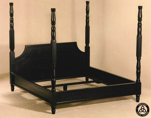 Custom Made #1202 Black Hand Made Bed