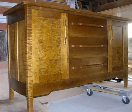 Custom Made Curly Maple Sideboard