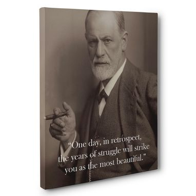 Custom Made Sigmund Freud Motivation Quote Canvas Wall Art