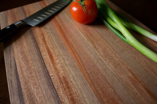 Custom Made Butcher Block, Cutting Board, End Grain, Black Walnut & African Mahogany