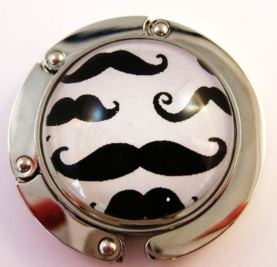 Custom Made Foldable Purse Hook With Moustaches Design