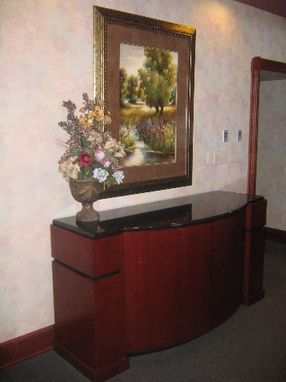 Custom Made Cherry Credenza, Granite Top