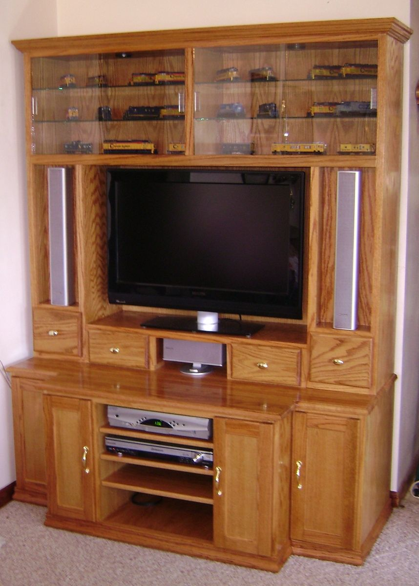 Custom Oak Entertainment Center By Steve S Custom
