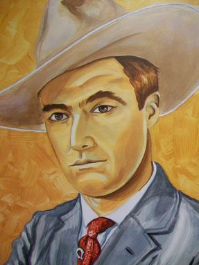 Custom Made Acrylic On Board Portrait For A Mural: Cowboys 6