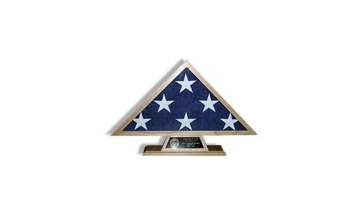 Custom Made Pedestal Flag Case, Internment Flag Case, Pedestal And A Flag Ca