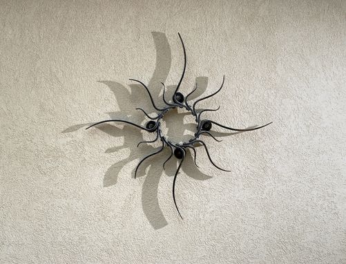 Custom Made Custom Iron Sun Sculpture