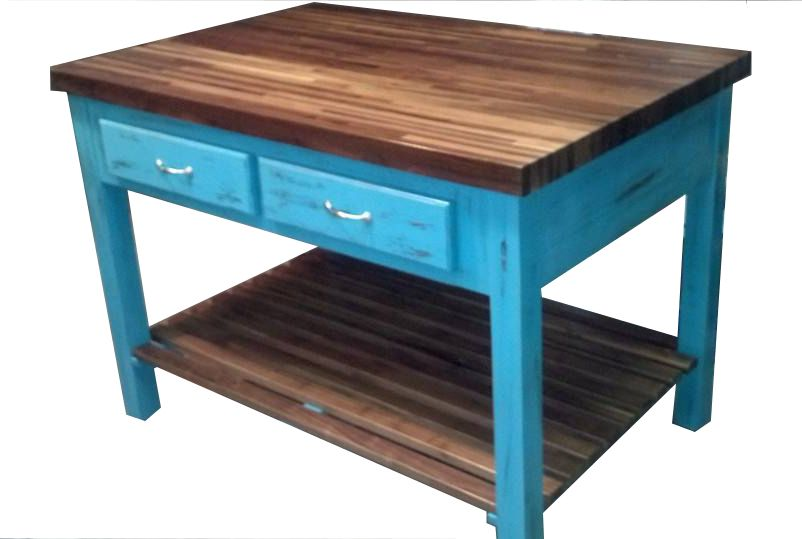 Custom Butcher Block Kitchen Island By Country Store