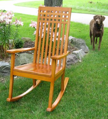 Custom Made Modern Cherry Rocking Chair