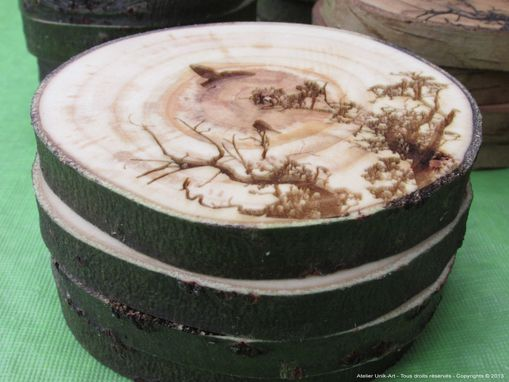 Custom Made Wooden Coasters Made Out Of Salvaged Wood And Drift Wood