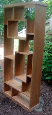 Custom Made Custom Made Solid Cherry Shadowbox Bookcase