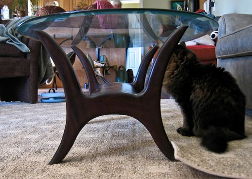 Custom Made Solid Walnut  Tables With Glass Tops