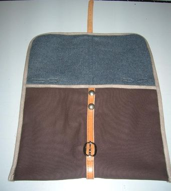 Custom Made Laptop Case Brown Canvas