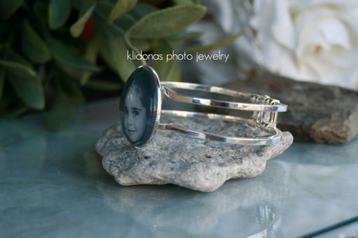 Custom Made Photo Bracelet, Custom Photo Bangle Bracelet, Picture Jewelry Bangle Bracelet