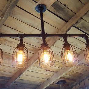 Custom chandeliers and pendants custommade rustic industrial chandelier black pipe with cages modern industrial chandelier free shipping aloadofball Choice Image