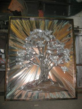 Custom Made Tree Of Life Relief, Fabricated Metal Sculpture