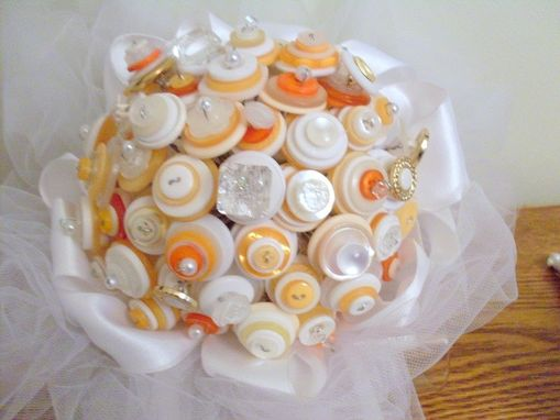 Custom Made Custom Bridal Bouquet Package With Buttons