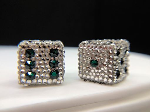 Custom Made Crystallized Dice Pair Game Size Any Color Bling Swarovski Crystals Bedazzled