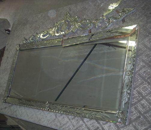 Handmade Venetian Mirror Repair And Enlarge By Cascade Crystal Custommade