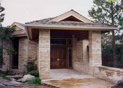 Custom Made Private Residence Front Entrance Stone Work