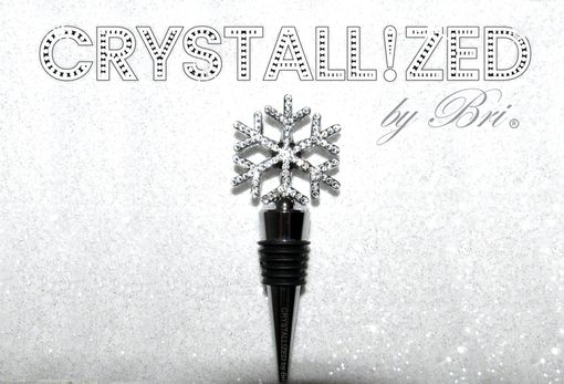 Custom Made Crystallized Snowflake Bottle Stopper Dining Alcohol Bling Swarovski Crystals Bedazzled