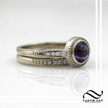 Custom Made Chic Vintage - Gemstone And Diamonds In 14k
