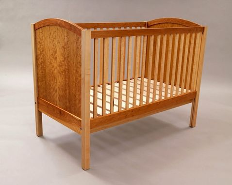 Custom Made Curly Cherry And Maple Crib