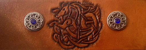 Custom Made Leather Celtic Horse Wrist Cuff