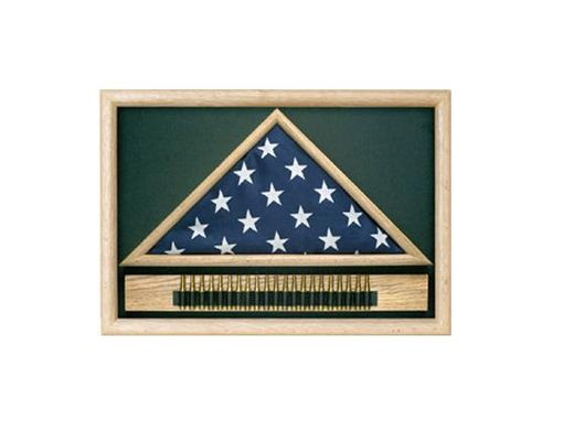 Custom Made Military 21 Gun Salute Flag Display Case