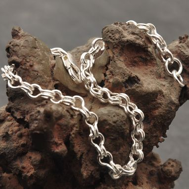Custom Made Small Fine Silver Sailor's Chain Bracelet