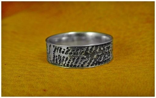 Custom Made Finger Print White Gold Band