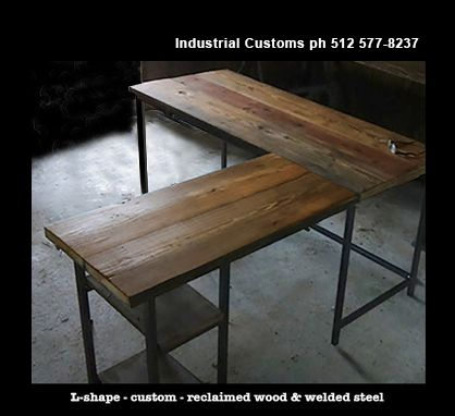 Custom Made Desk L-Shape