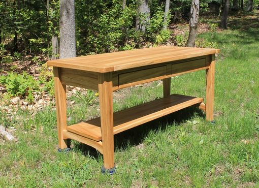 Custom Made Solid Elm Coffee Table Tv Stand