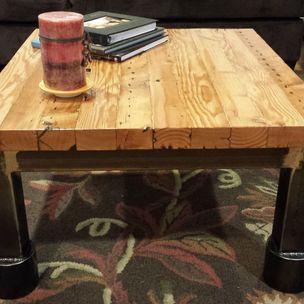 Steel Reclaimed Wood Coffee Table by. Bret Duncan  Sawdust Steel   half moon bay  CA