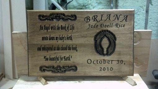Custom Made Wooden Carved Memorial