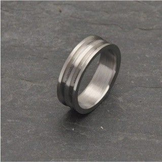 Custom Made Lathe Turned Titanium Ring