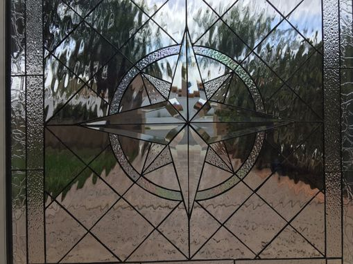 Custom Made Ready To Ship! Compass Rose Stained Glass Window #S12