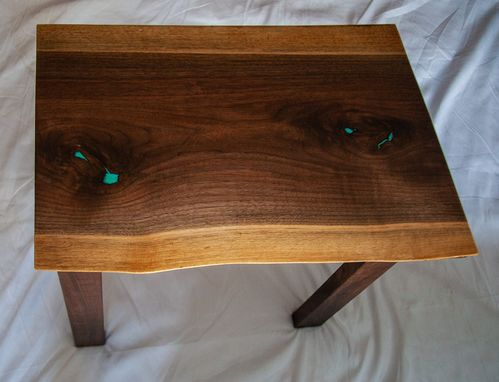 Custom Made Live Edge End Table