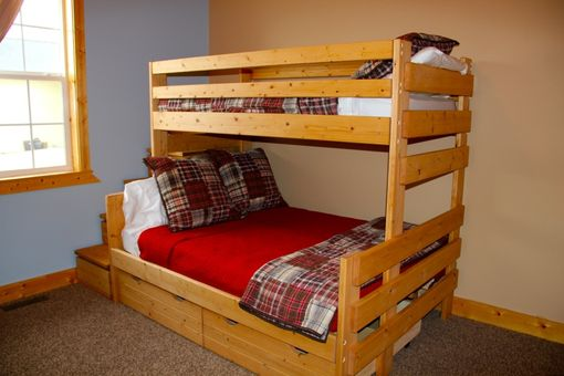 Custom Made Twin / Full Bunk Bed Frame