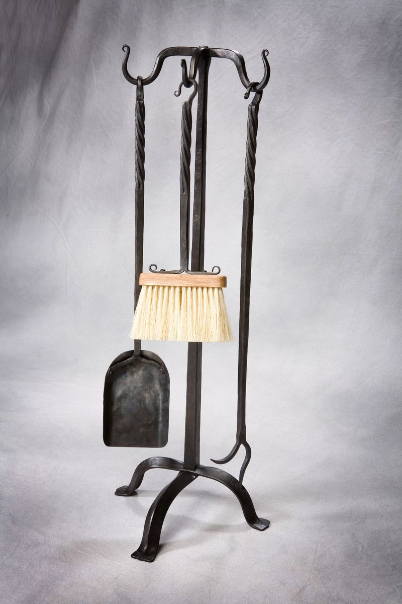 Forged Iron Fireplace Tools And Stand - Custom Fireplace Tools & Tool Sets CustomMade.com
