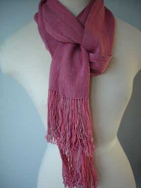 Custom Made Old Rose Hand Woven Silk Scarf