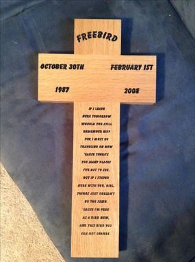 Custom Made Custom Memorial Cross